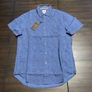 Copper & Oak Short Sleeve Cotton Print Buttondown